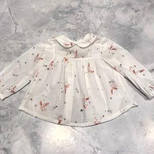 Zara blouse 3-6 months